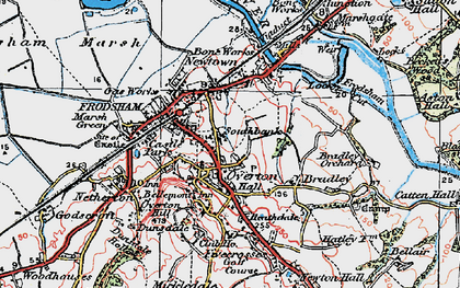 Old map of Frodsham in 1923