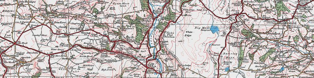 Old map of Froggatt in 1923