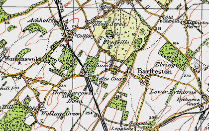 Old map of Frogham in 1920