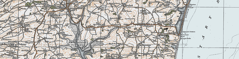 Old map of Frogmore in 1919