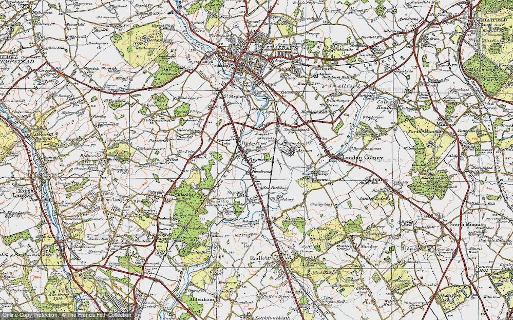 Old Map of Frogmore, 1920 in 1920