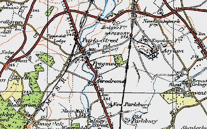 Old map of Frogmore in 1920