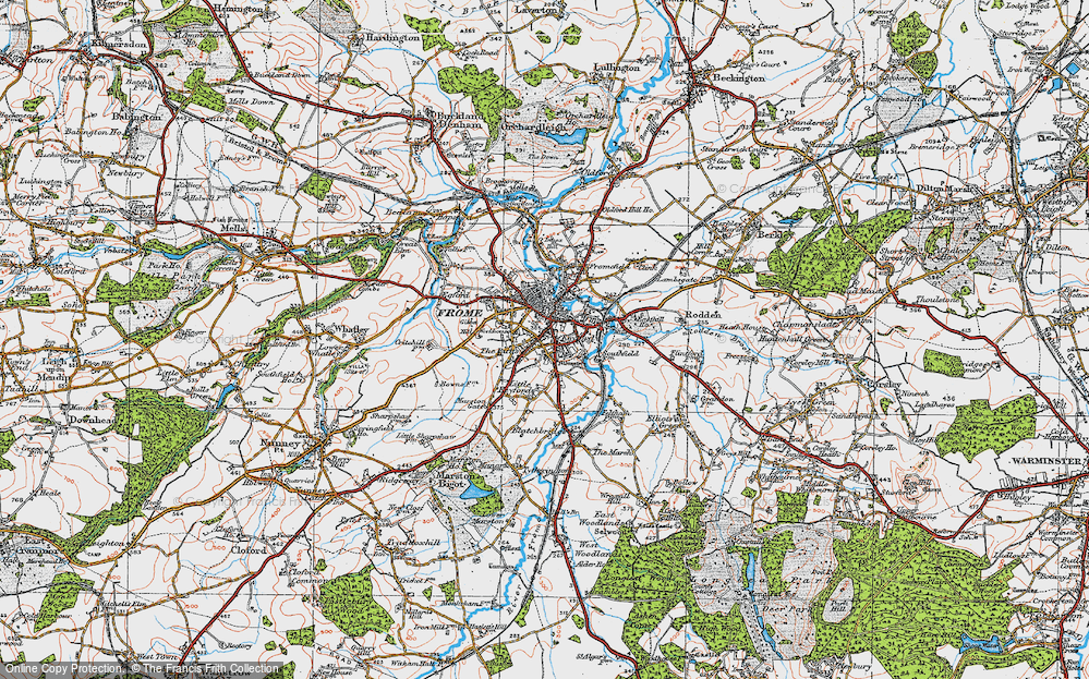 Old Map of Frome, 1919 in 1919