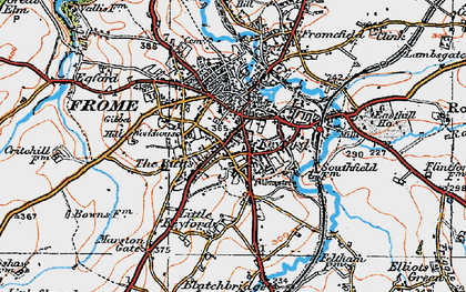 Old map of Frome in 1919