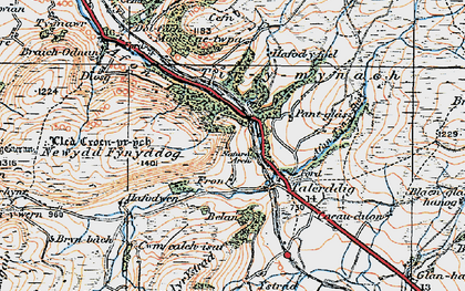 Old map of Ystrad in 1921