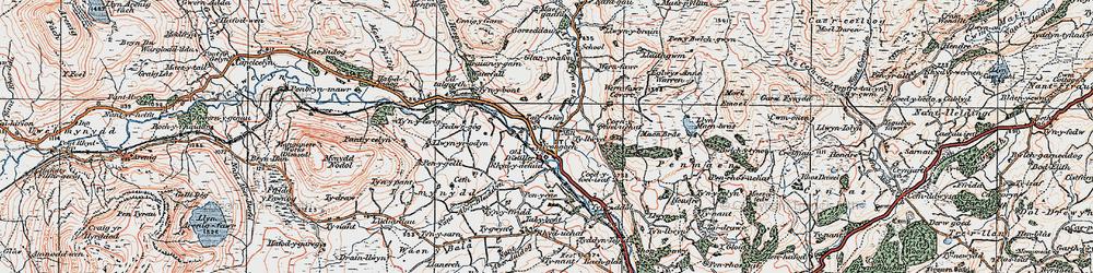 Old map of Afon Hesgyn in 1922