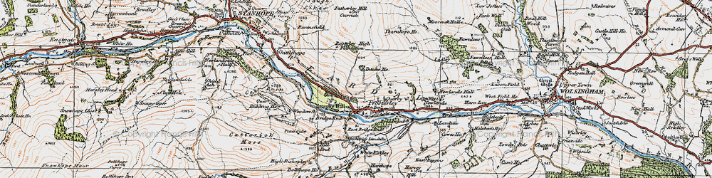 Old map of West Newlands in 1925