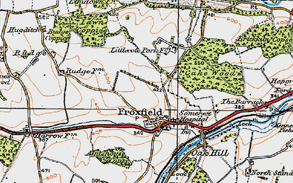 Old map of Froxfield in 1919