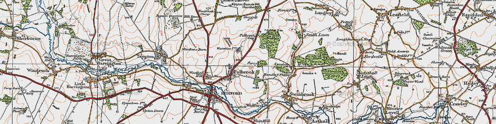 Old map of Widley Copse in 1919