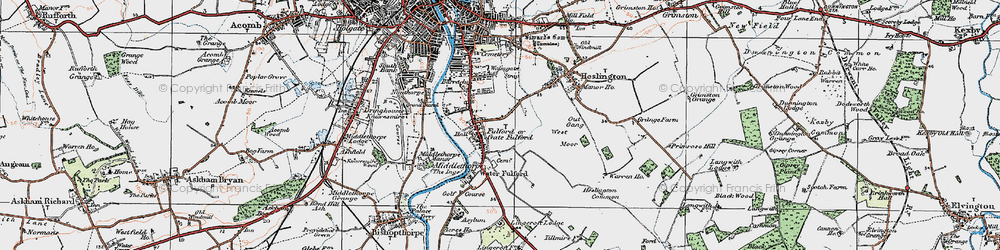 Old map of Fulford in 1924