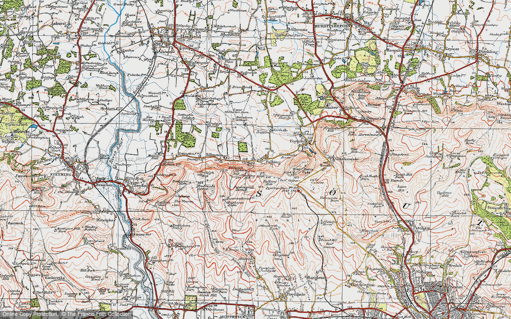 Old Map of Fulking, 1920 in 1920