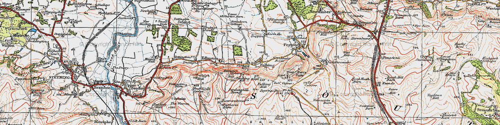Old map of Wickhurst Barns in 1920