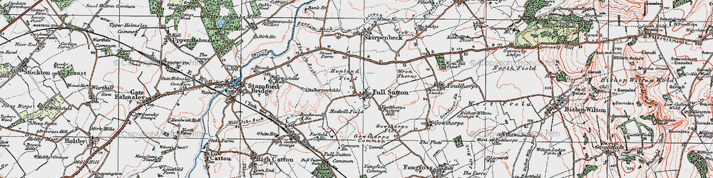Old map of Winter Beck in 1924