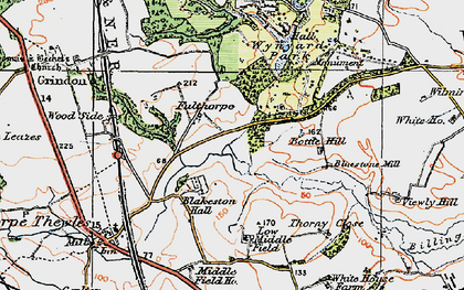 Old map of Wynyard Park in 1925