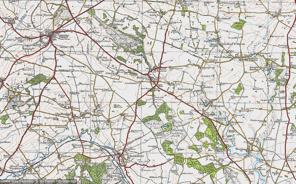 Old Map of Fulwell, 1919 in 1919