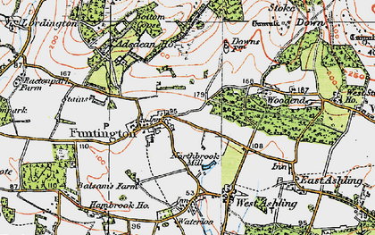 Old map of Adsdean Ho in 1919