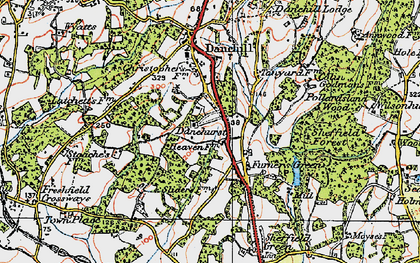 Old map of Latchetts in 1920
