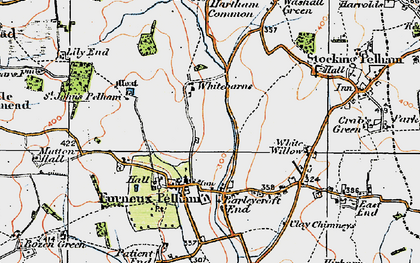 Old map of Furneux Pelham in 1919