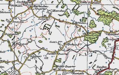 Old map of Langley in 1921