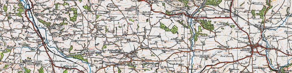 Old map of Whitstone in 1919