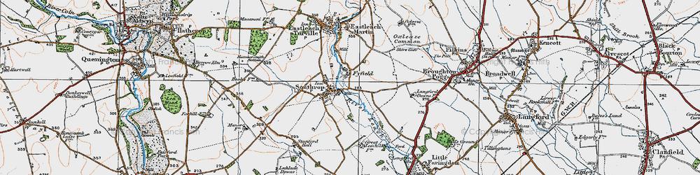Old map of Tiltup in 1919