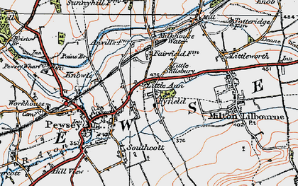 Old map of Fyfield in 1919