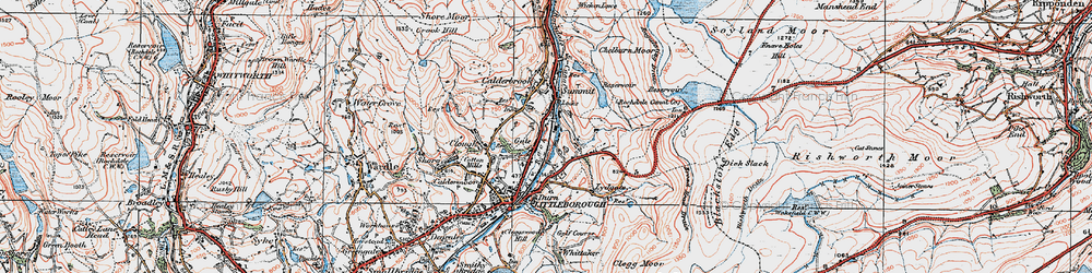 Old map of Aiggin Stone in 1925