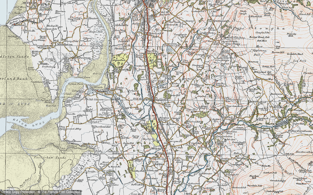 Old Map of Galgate, 1924 in 1924