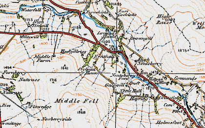 Old map of Whimsey Hill in 1925