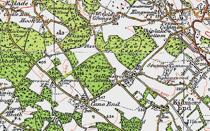 Old map of Wyfold Grange in 1919