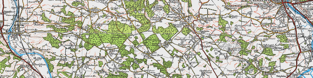 Old map of Withy Copse in 1919