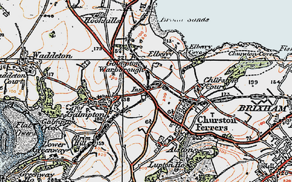 Old map of Galmpton in 1919