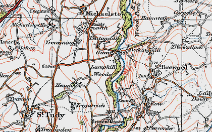 Old map of Gam in 1919