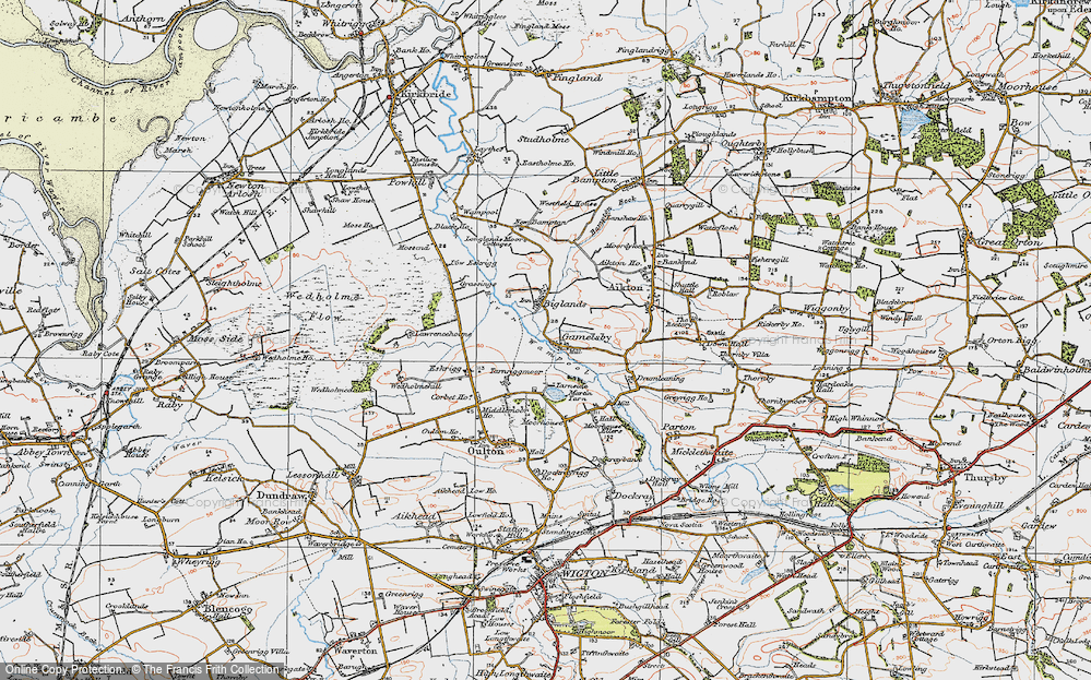 Old Map of Historic Map covering Lawrenceholme in 1925