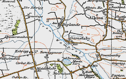 Old map of Lawrenceholme in 1925