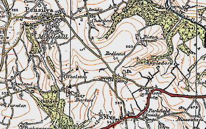Old map of Gang in 1919