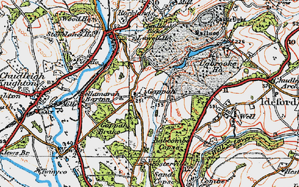 Old map of Babcombe in 1919