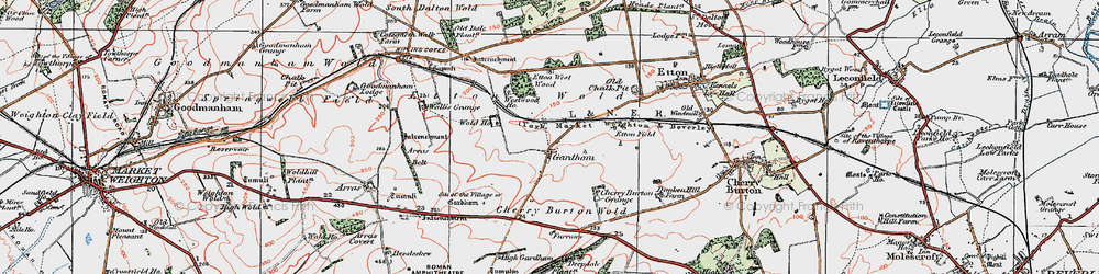 Old map of Westwood Ho in 1924