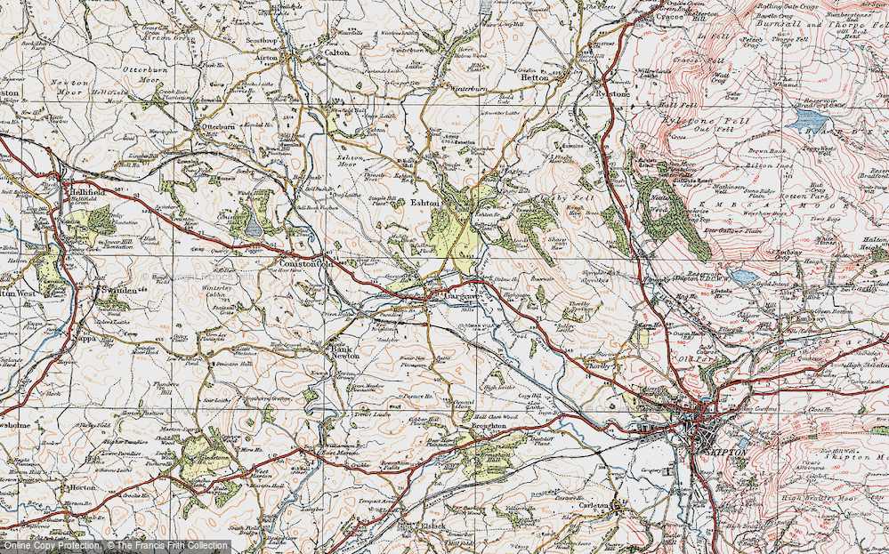 Old Map of Gargrave, 1925 in 1925