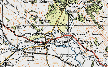 Old map of Gargrave in 1925