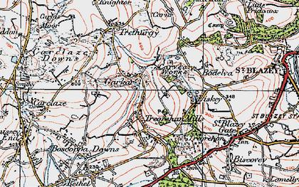 Old map of Garker in 1919