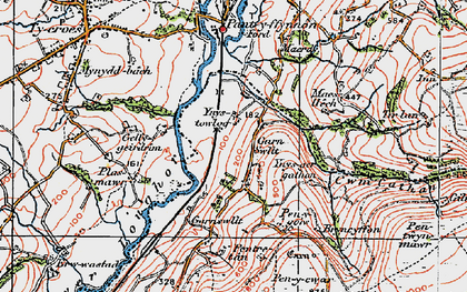 Old map of Garn-swllt in 1923