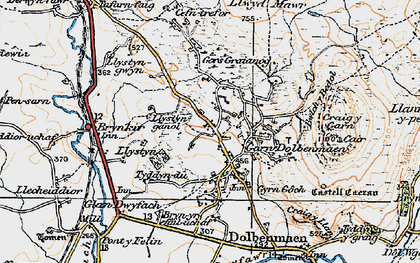 Old map of Garndolbenmaen in 1922