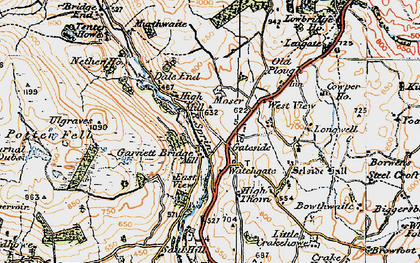 Old map of Whiteside Pike in 1925