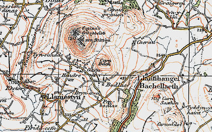 Old map of Tyn Lôn in 1922