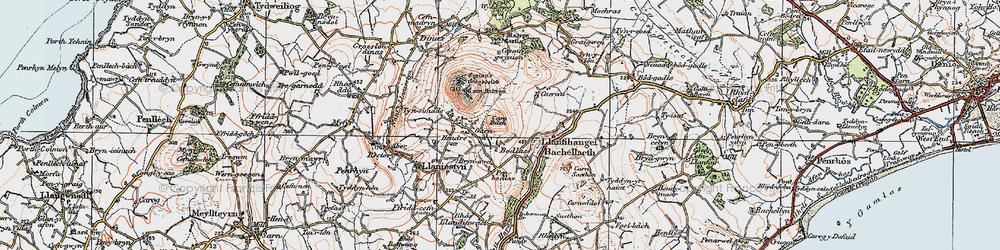 Old map of Tyn Lôn in 1922