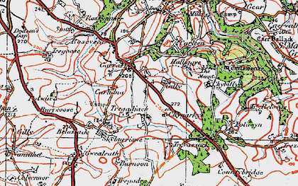 Old map of Garras in 1919
