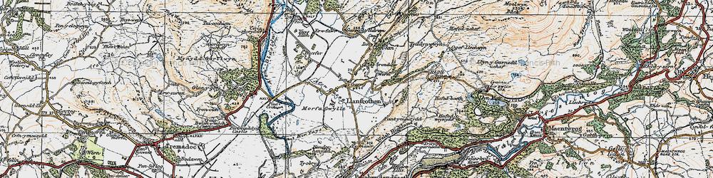 Old map of Garreg in 1922
