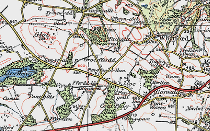 Old map of Ffordd Las in 1924