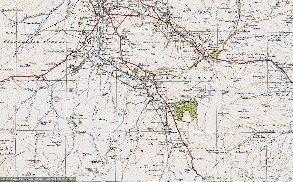 Old Map of Garrigill, 1925 in 1925